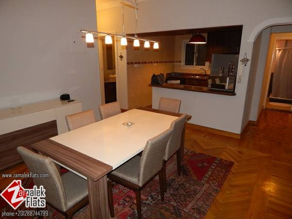 Modern Apartment For Rent In Zamalek ( Short Term ) Beside The Marriott