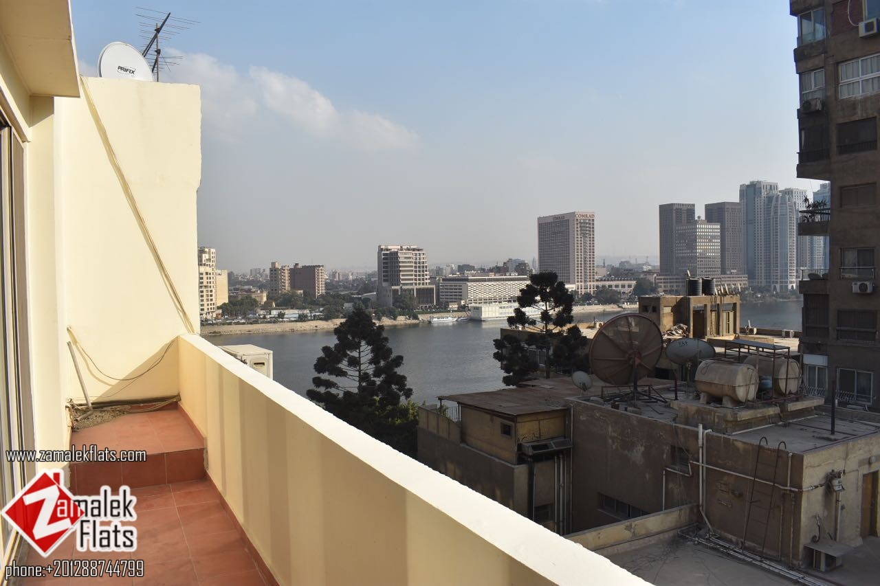 New Renovated  Nile view apartment for rent in Zamalek