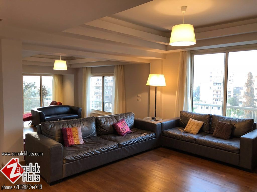 Modern furnished apartment available for rent in zamalek
