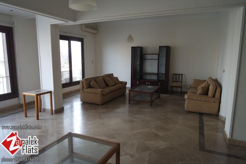 High Ceiling ____Nile View Apartment ____North Zamalek