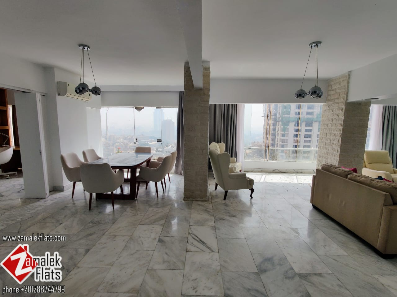 Sunny Fully Furinshed Apartment For Rent In South Zamalek