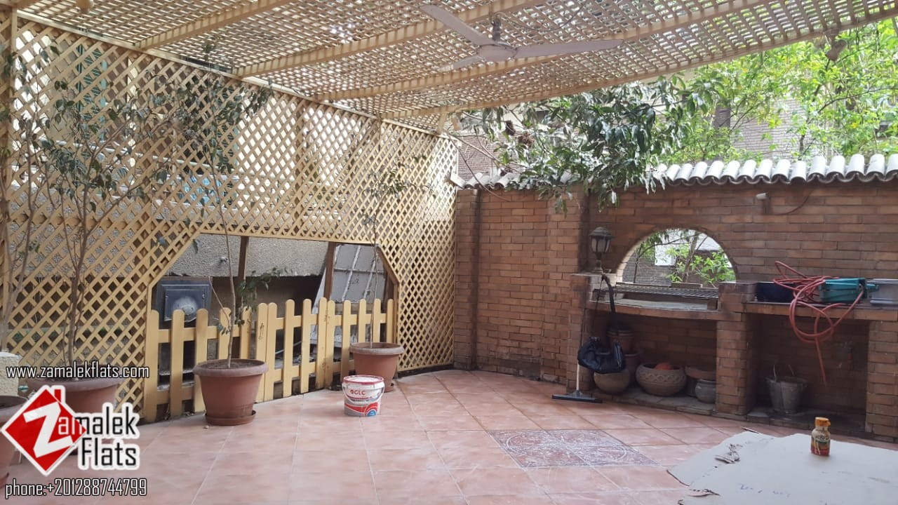High Ceiling Semi Furnished Apartment for Rent in South Zamalek