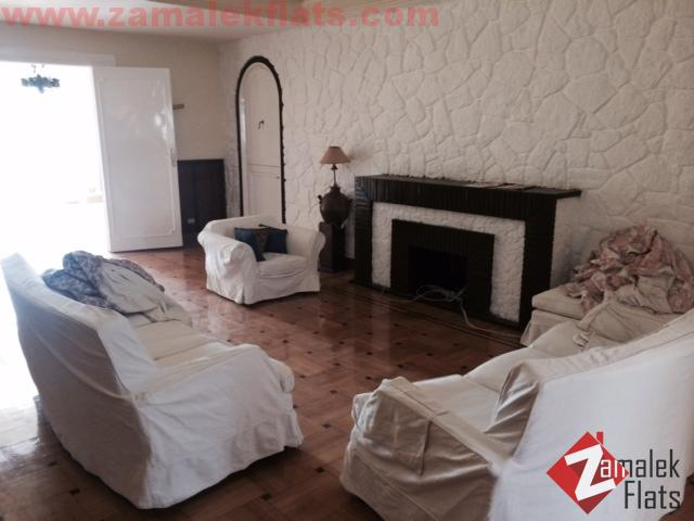 DUPLEX Pent House ___Semi Furnished___HIGH CEILING ___LARGE 2 TERRACE__SOUTH ZAMALEK