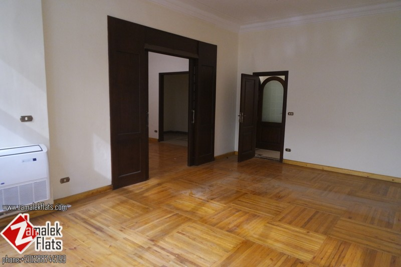 Brand new High Ceiling  Unfurnished flat For Rent In Zamalek