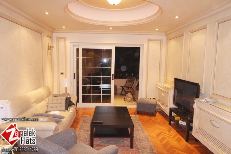 New Renovated & Furnished  Apartment For Rent In Zamalek