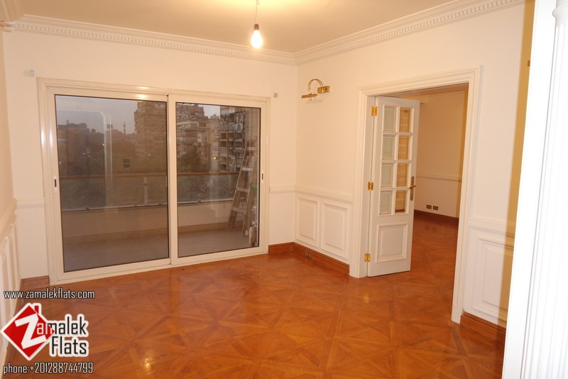 Semi Furnished Apt in South Zamalek with Fish Garden View