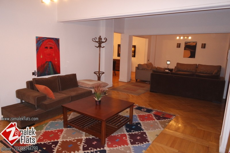 Large  well Fully Furnished Apartment In South Zamalek