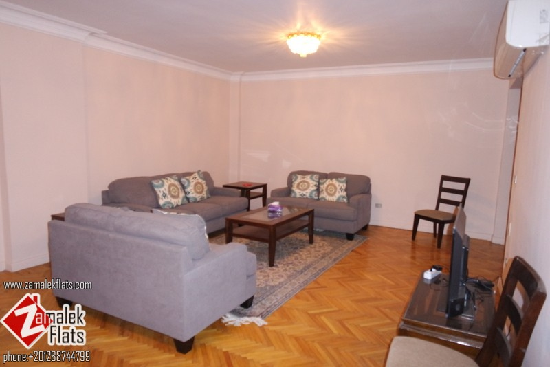 Newly Renovated Brand Furnished Apartment For Rent In Zamalek