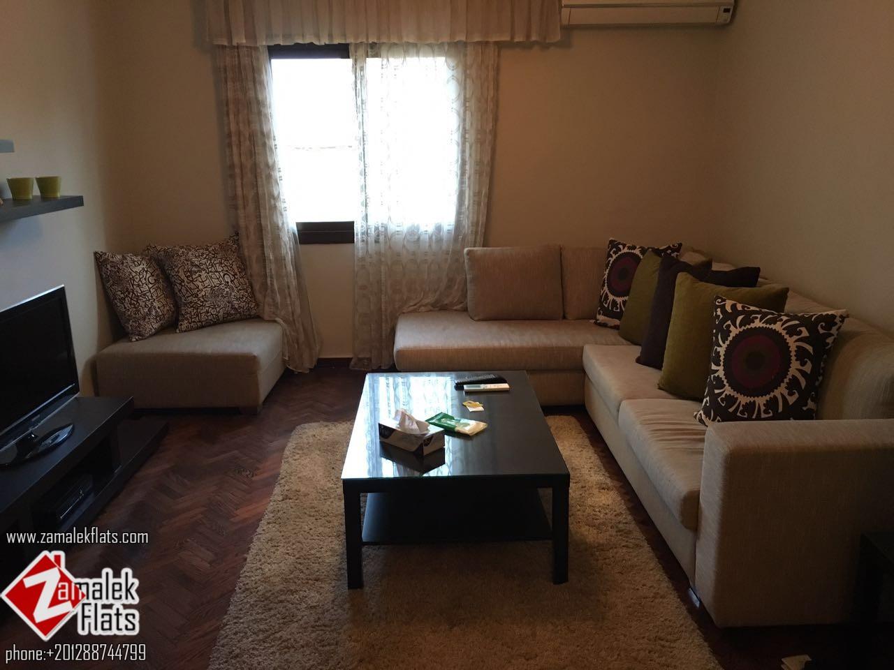 Modern fully furnished apartment for rent in Brazil st., zamalek