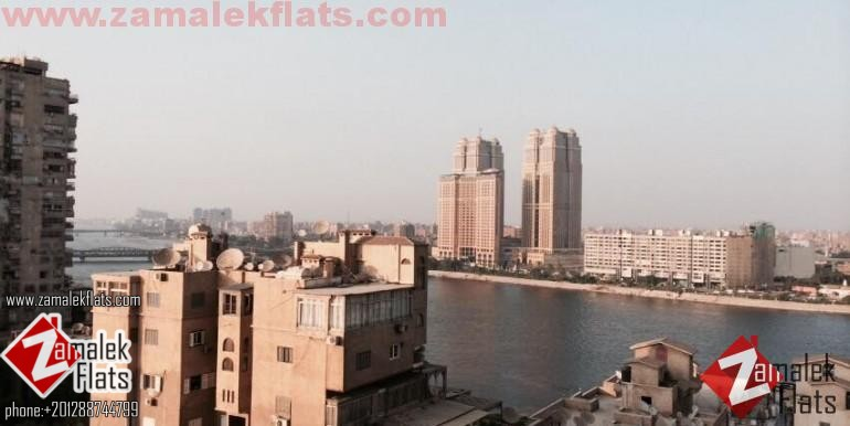 wonderful  Nile View Fully Furnished Flat In Zamalek