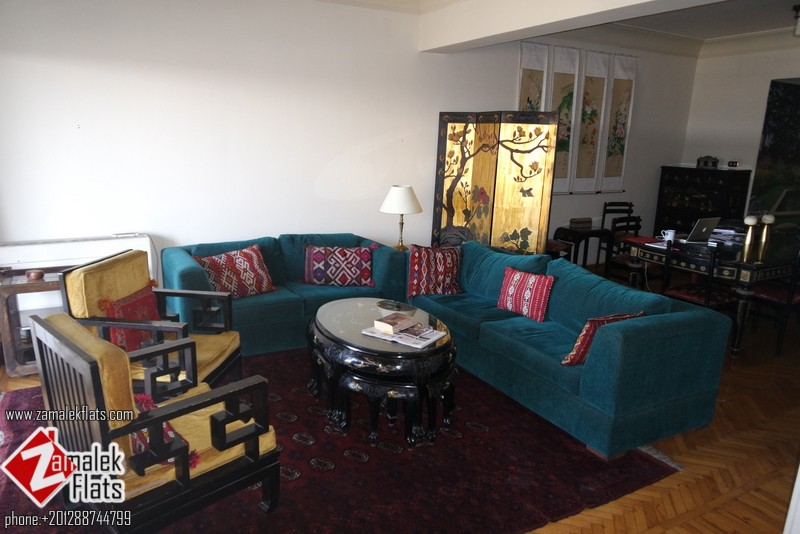 Nile View Apartment For Rent In Zamalek