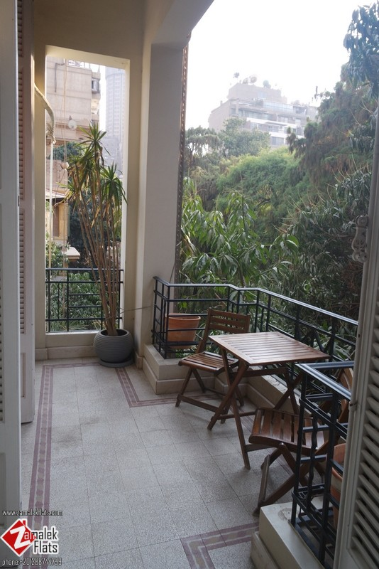 Luxury High Ceiling  + Old Building + South Zamalek + Semi Furnished