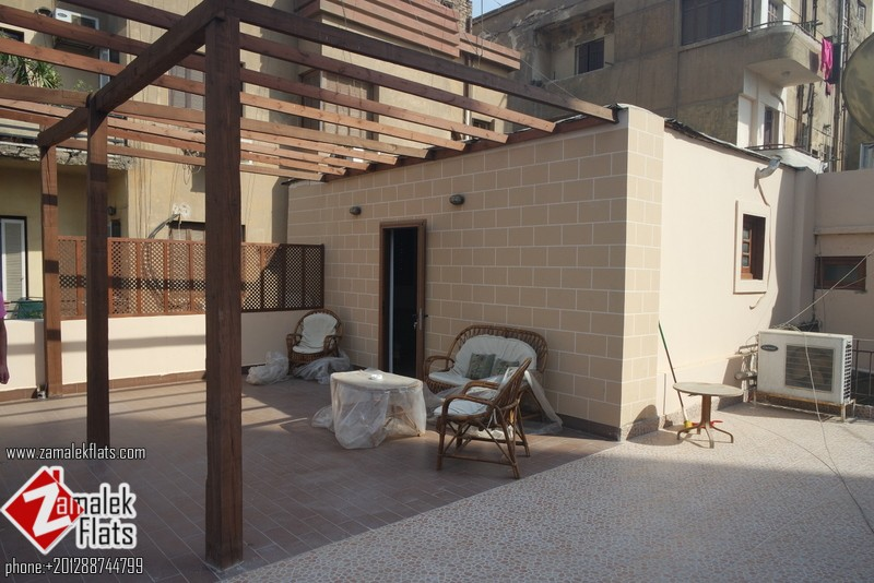 New Renovated Pent House For Rent In Zamalek