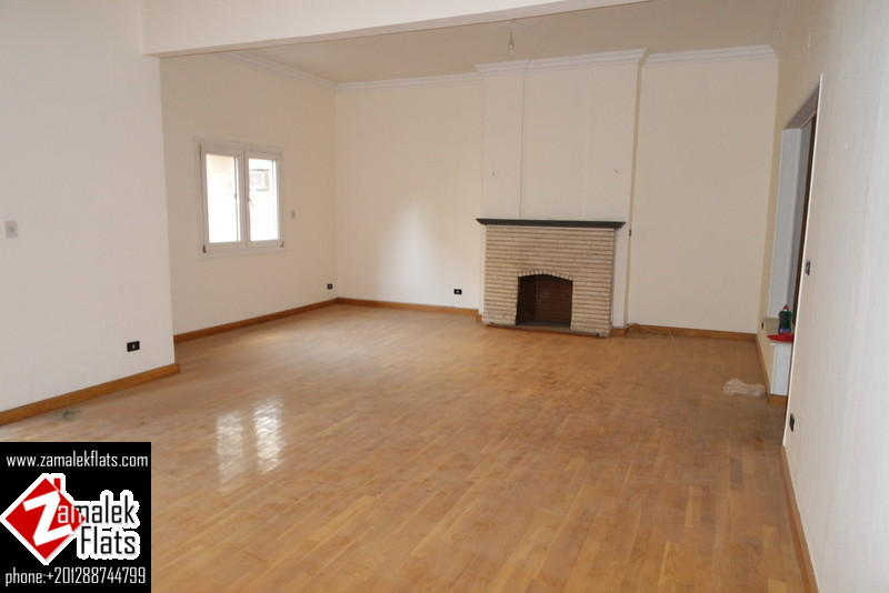High Ceiling Unfurnished Apartment For Rent In Zamalek