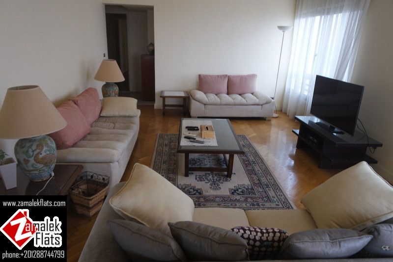 Nile View Modern Furnished Apt In ((  South Zamalek )) Close To Gezira Sporting Club