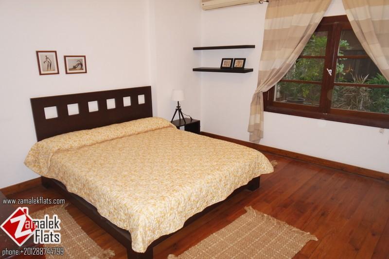 Bright furnished apartment for rent zamalekflats for Terrace hilton zamalek
