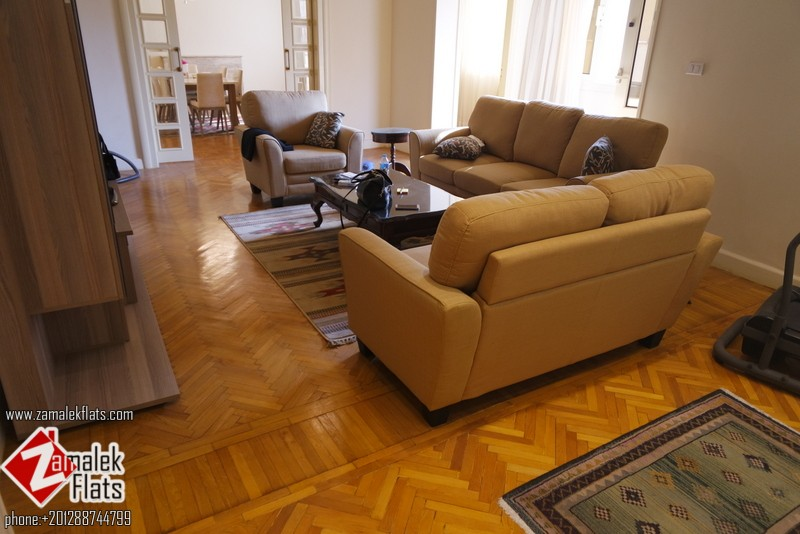 The new Furnished & Renovated  Apartment For Rent In Zamalek