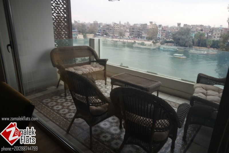 Nile View semi Furnished Apartment in zamalek