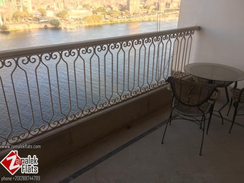 Nile view one bedroom apartment in zamalek