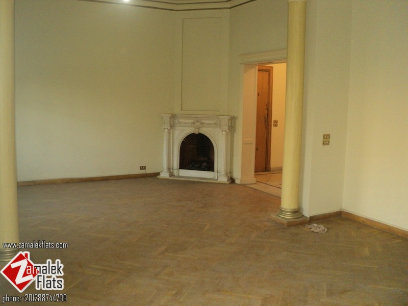 High Ceiling Nile View Office For Rent In Zamalek