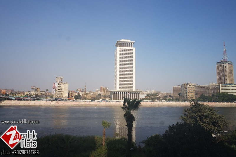 Nile view High standard apt for rent in zamalek