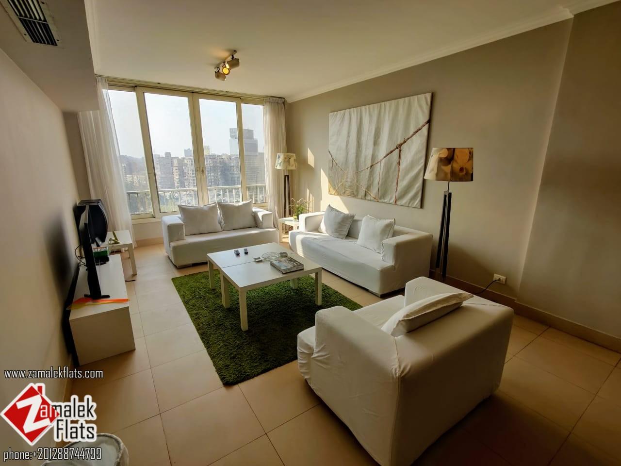 Modern Furnished Nile View Apartment in South Zamalek