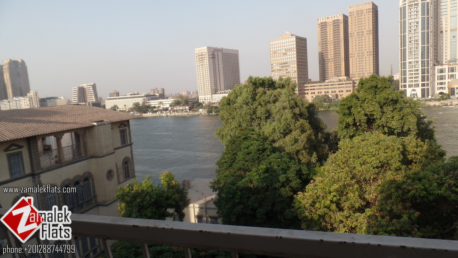 Unfurnished Nile view apartment for rent in zamalek