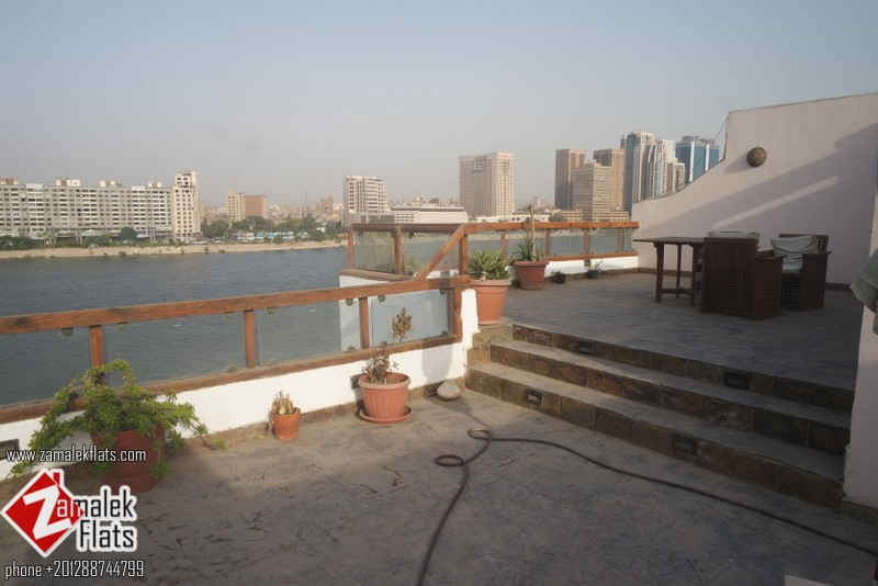 Furnished Nile View Pent House For Rent In Zamalek