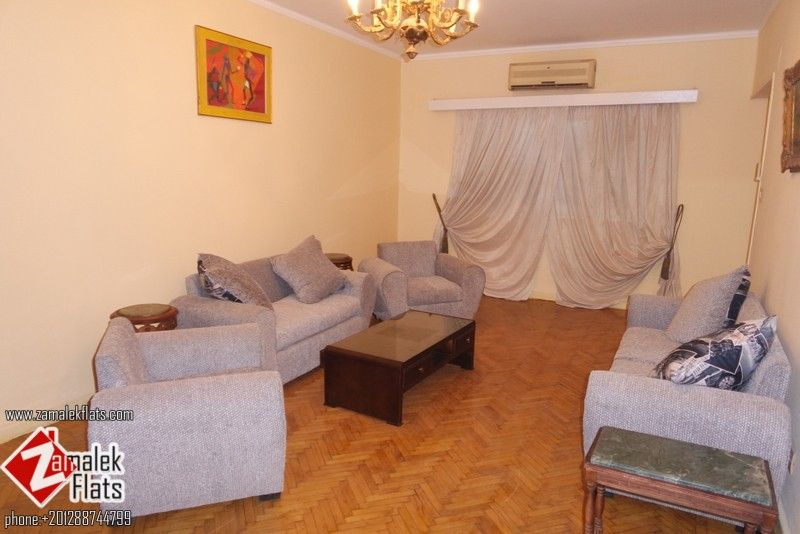 Furnished  apartment with green view for rent in zamalek