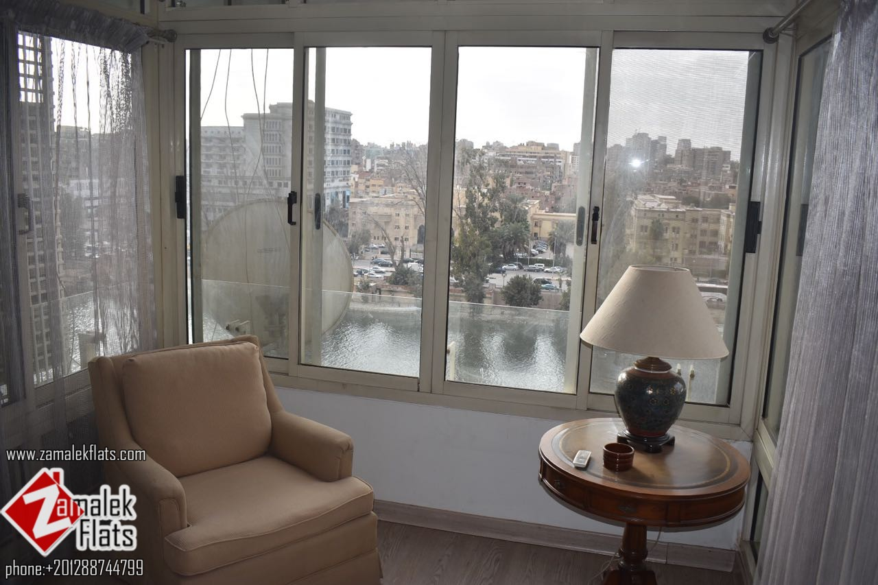 nile view renovated apartment in south zamalek