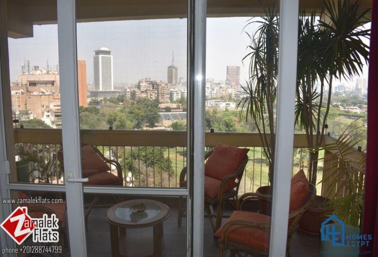 Semi Furnished Newly Renovated Apartment South Zamalek Gezira Club View