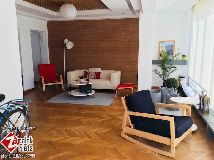 Modern Furnished Apt + Large Terrace In Zamalek