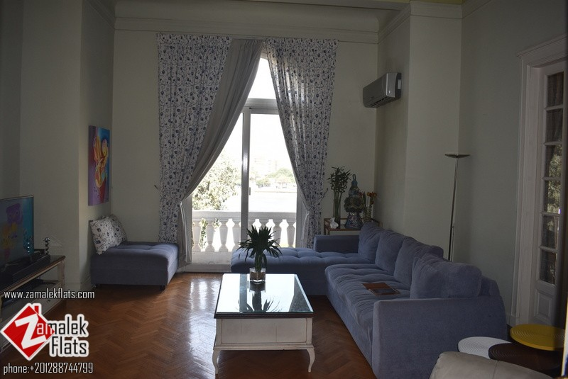 Luxury Partly Furnished High Ceiling Nile View 300 Sq Meters Apt