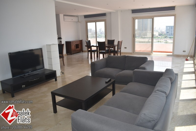 Nile View Furnished Apt Open Kitchen
