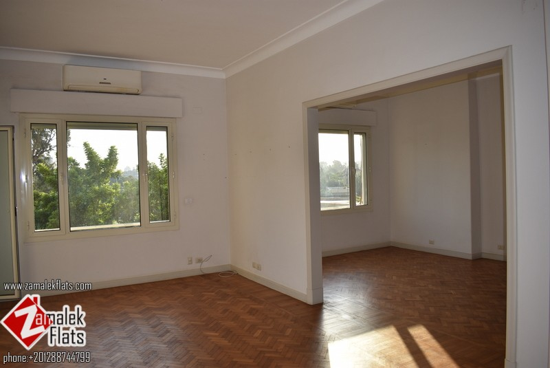 Semi Furnished High Ceiling South Zamalek Gezira Club View