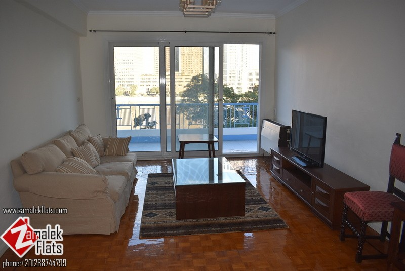 Renovated Nile View Apartment for Rent