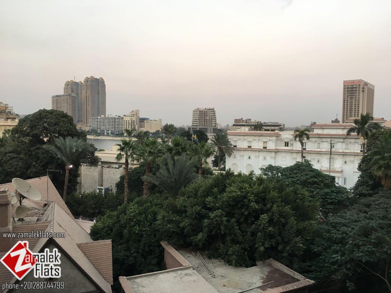 Wonderful Semi Furnished Apartment For Rent In Zamalek