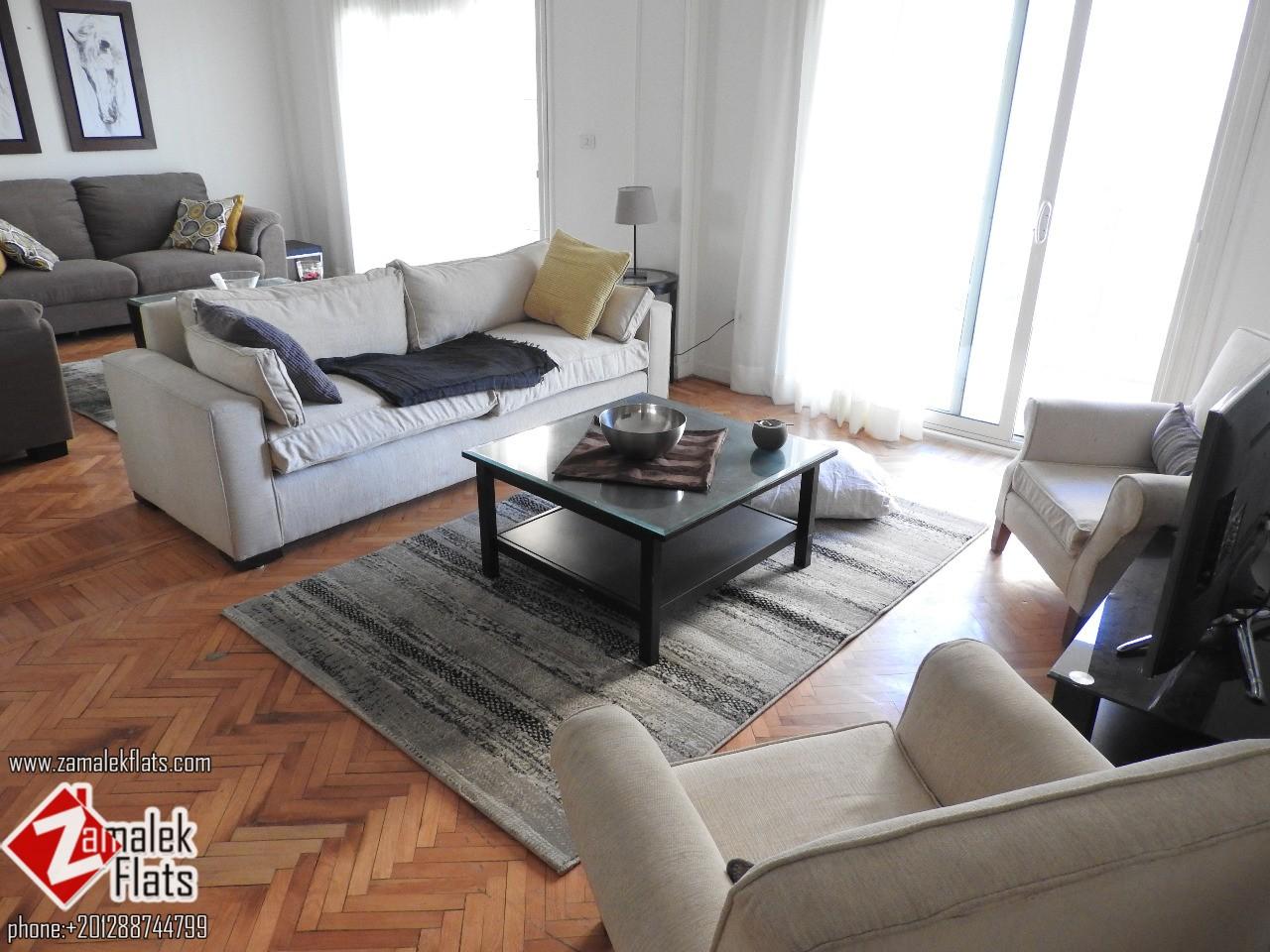 Wonderful Nile View Apartment for Rent in Zamalek