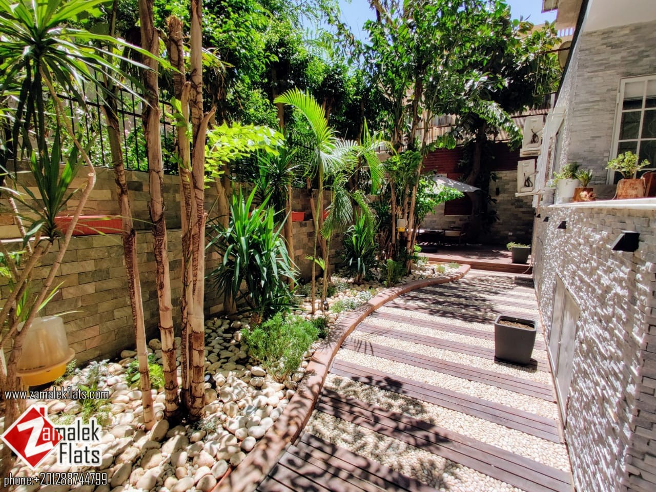 Furnished Apartment with Private Garden for Rent