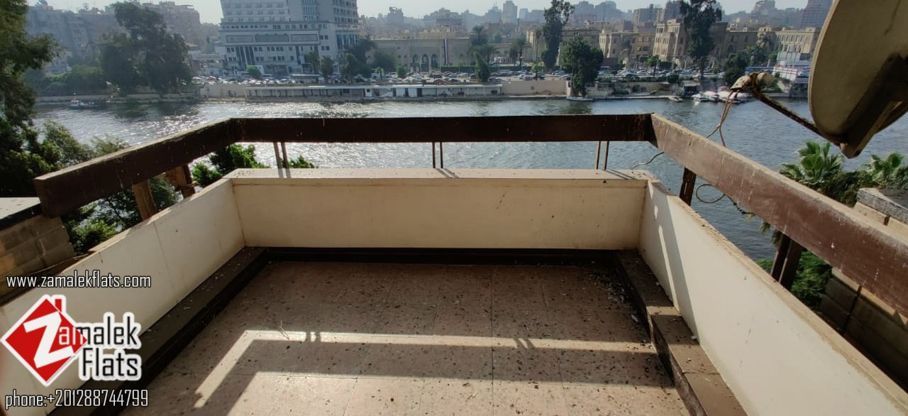 Unfurnished Apartment with Nile View for Rent in South Zamalek