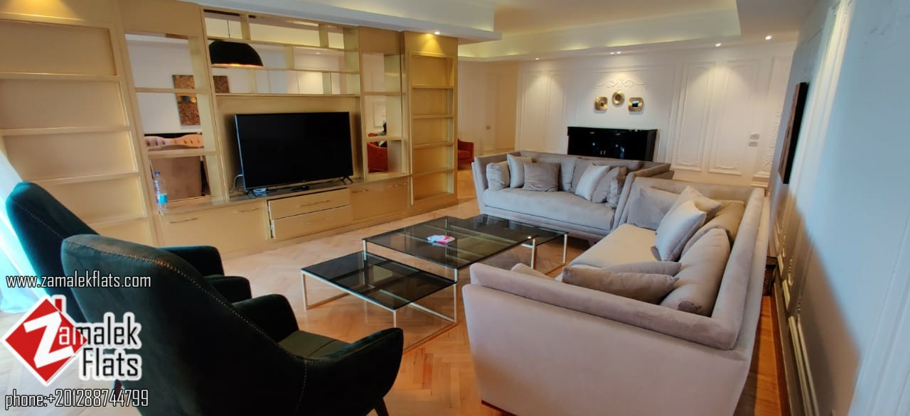 Modern Nile View Apartment for Rent Zamalek