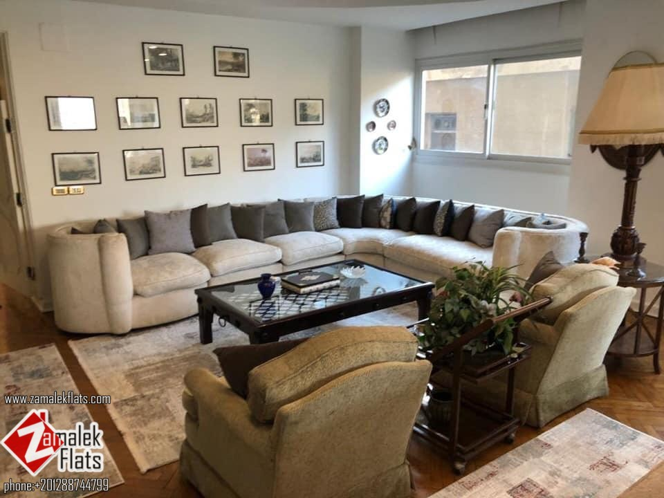 Nile View Furnished Apartment for Rent in Zamalek