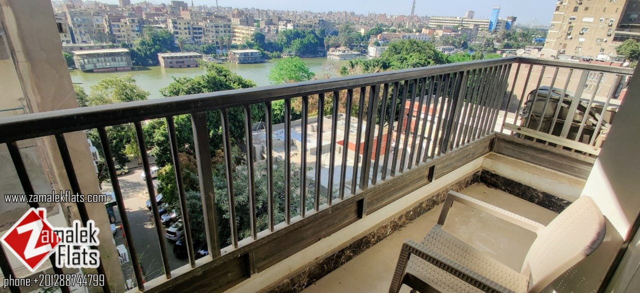 Nile View Furnished Apartment fro Rent in Zamalek