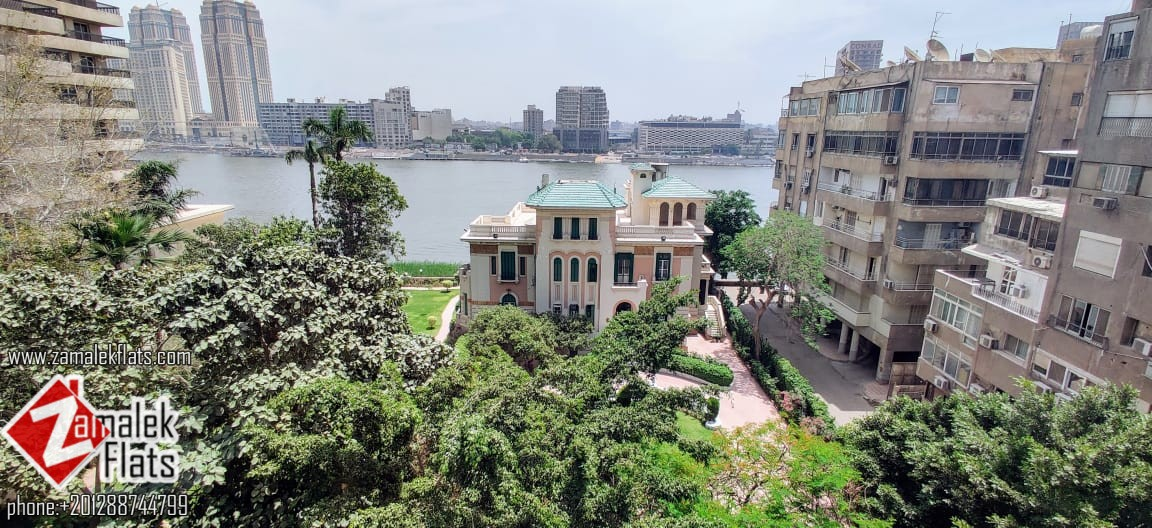 Quiet Furnished Apt with Nile View for Rent in Zamalek