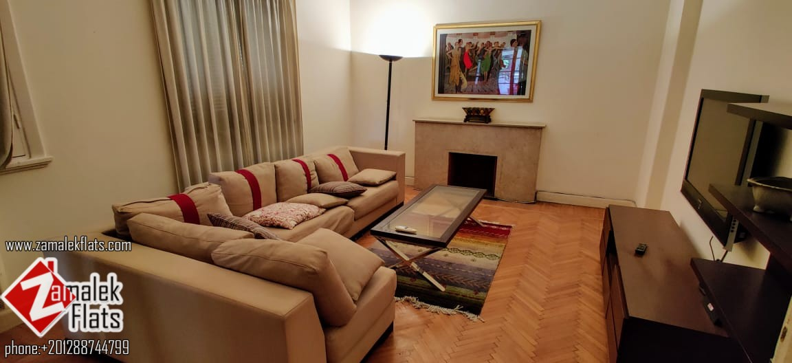 High Ceiling Well Furnished Apt For Rent In Zamalek