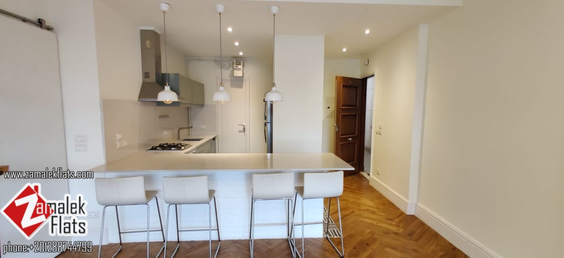 Well Finished Apartment with Open Kitchen for Rent in South Zamalek