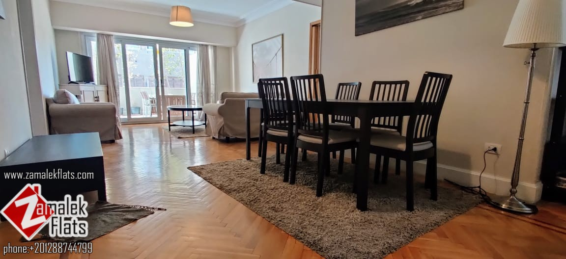 Clean Furnished Apartment With Large Terrace In Zamalek