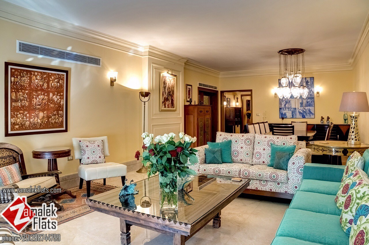 Newly Luxurious Furnished Apartment For Rent In Zamalek