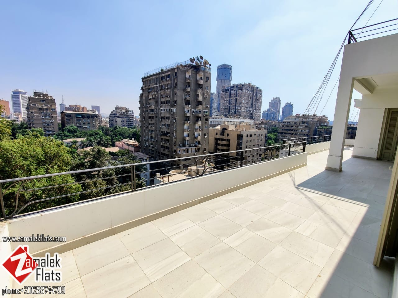 Sunny Ready To Move In Apartment For Rent In South Zamalek