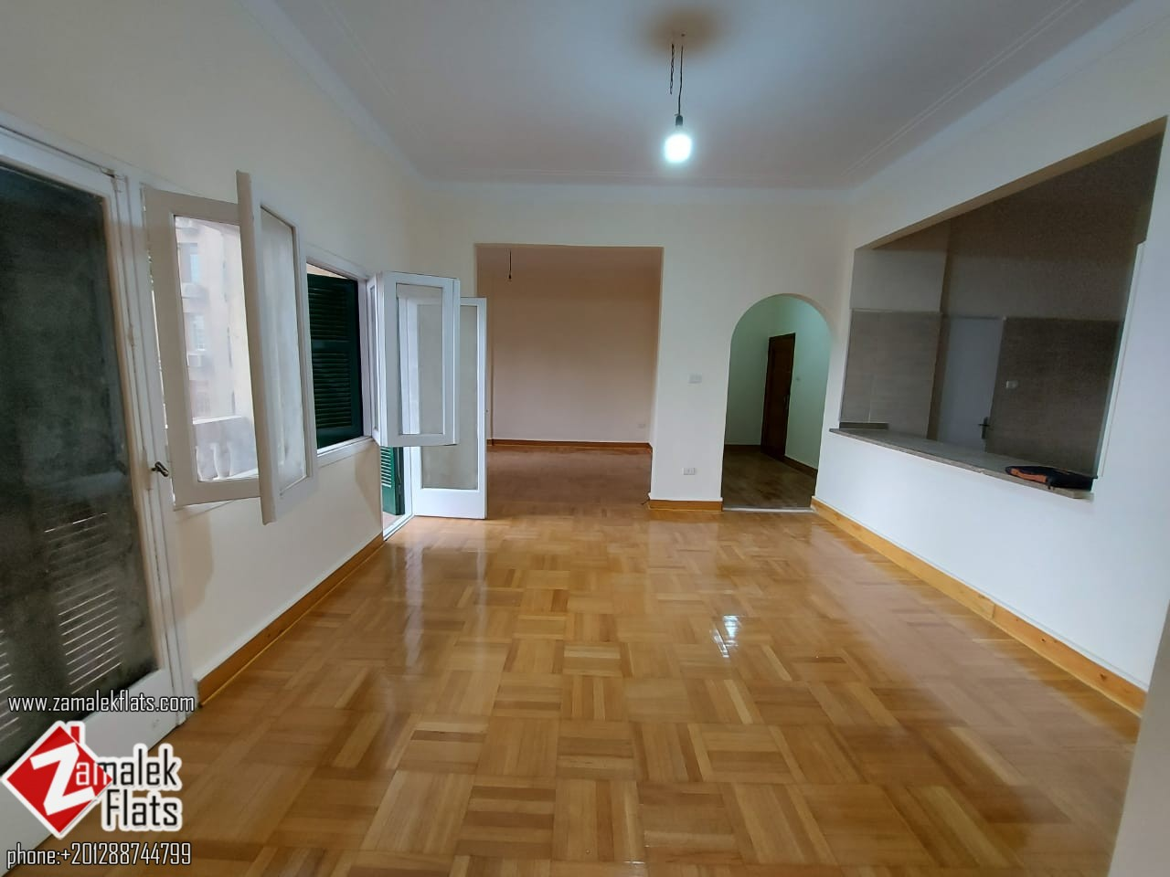New Finished Unfurnished High Ceiling Nile View Apartment For Rent In Zamalek
